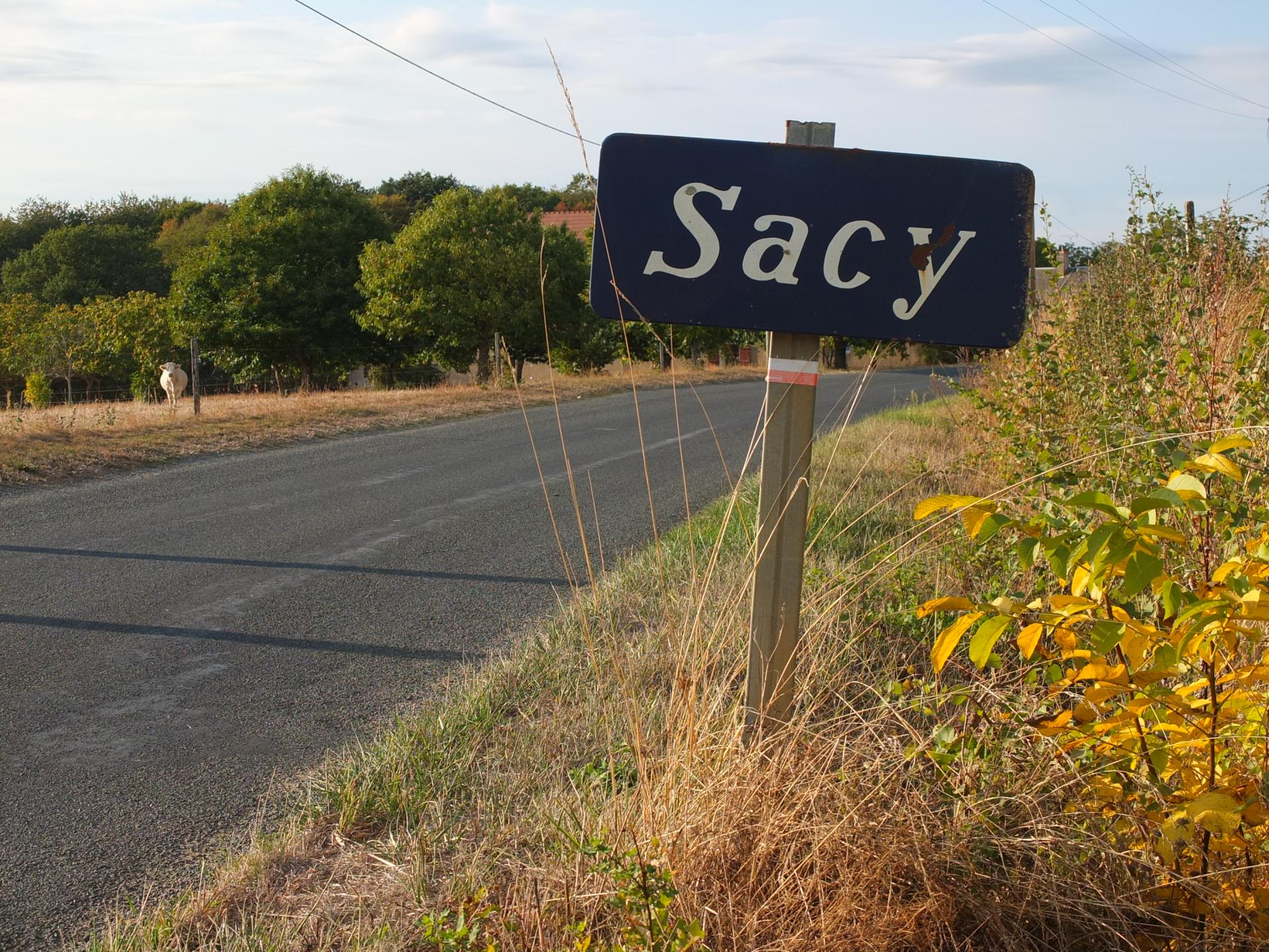 Sur la RD 86 en direction de Sens-Beaujeu